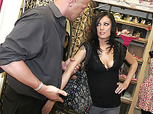 Vanessa has to fuck her boss after he catches her stealing