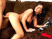 Hot tits on doggy style milf slut