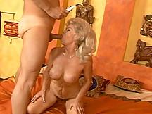 Busty blonde granny fucking