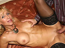 This mature slut keeps herself in shape the old fashioned way. With deep dicking!