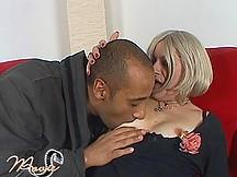 Mature bitch enjoys black cock