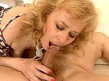 Loves to suck her younger lover